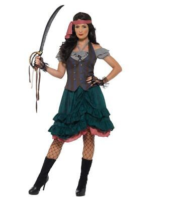 Adult Lady Pirate Wench Fancy Dress Party Costume • 11.49£