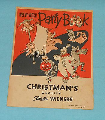 $ CDN57.19 • Buy Vintage Halloween WEENY-WITCH PARTY BOOK Christman's Wieners Masks Decorations