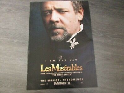 £21.99 • Buy Les Miserables I Am The Law Musical Phenomenon Broadway US Show Poster