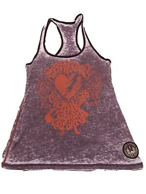 $17.50 • Buy Womens Clothing Hippie Bohemian Cute Chic Affliction Top With Patch