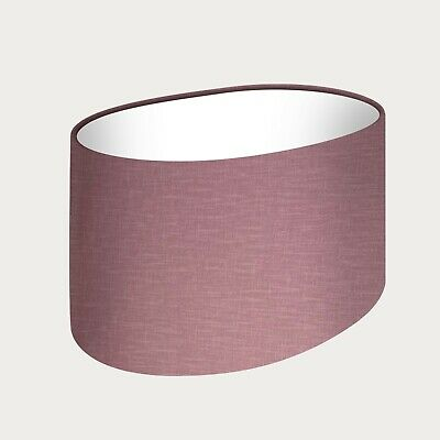 £29.50 • Buy Rounded Oval Lampshade Mauve Textured 100% Linen Fabric