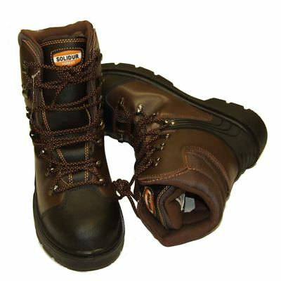 Chainsaw Safety Boots Solidur Forestry Arborist Size 6 Euro 39 Class 1 • 61.49£