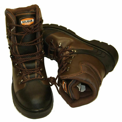 Chainsaw Safety Boots Solidur Forestry Arborist Size 9.5 Euro 44 Class 1 • 61.49£