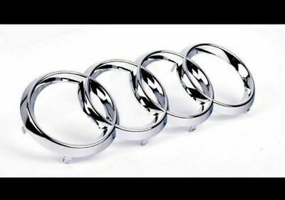 Silver Chrome Front Grille Badge Rings Logo Emblem Audi A3 A4 A5 A6 Sline 273x94 • 8.99£