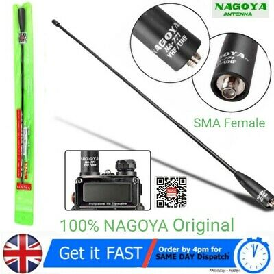 Genuine SMA Female Antenna Nagoya NA-771 Dual Band High Gain Handheld Radio 39cm • 17.49£
