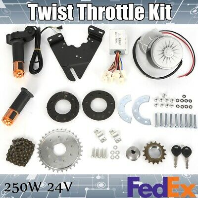 $106.79 • Buy Electric Bike Conversion Twist Throttle Kit Fit For  Motor 24V 250W US Stock TOP