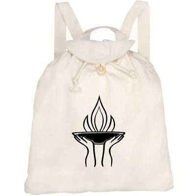 'Olympic Flame' Canvas Rucksack / Backpack (RK00011871) • 14.99£