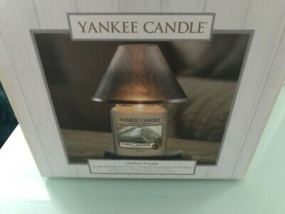 Yankee Candle Ombre Forest Large Shade And Tray Set • 25£