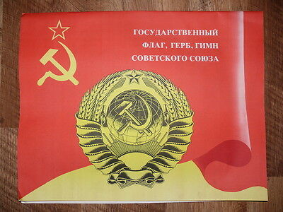 Authentic Set 12 Soviet Union Propaganda Posters Flag, Hymn, Coat Of Arms  • 34.99£