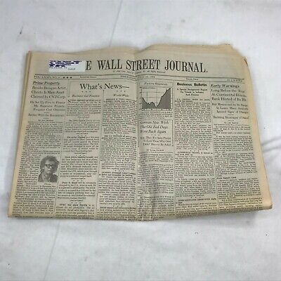 $51.10 • Buy The Wall Street Journal Newspaper Thursday July 12 1984 Vintage