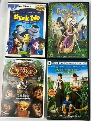$ CDN27.20 • Buy DVDs Lot Of 4 Shark Tale, Tangled, Country Bears, 2nd Hand Lions, Free Shipping