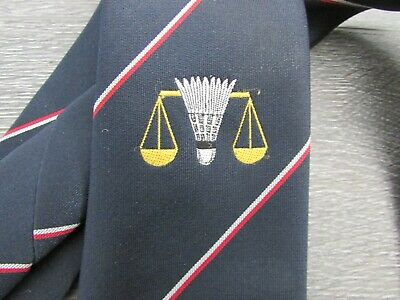 Badminton Shuttlecock Scales & Lancashire Red Rose Motif Tie • 9.99£