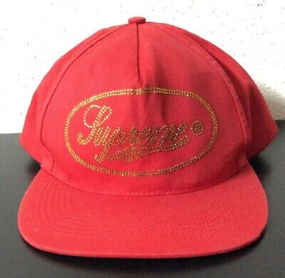 $ CDN38.86 • Buy Authentic Supreme Red Glitter Snapback Hat *SEE PICS*