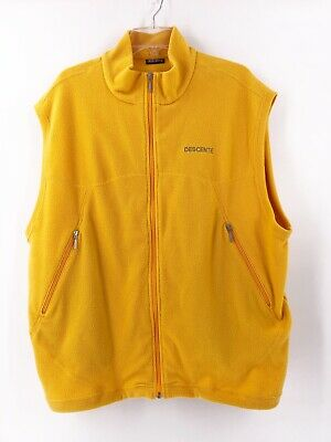 $29.99 • Buy Descente Mens Fleece Vest Size Extra Large Full Zip Yellow Pockets