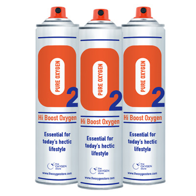 3x 10L Pure Canned Portable Oxygen In A Can Canister 99.5% Sports Therapy • 29.99£
