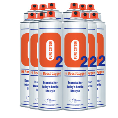 12 X 10L Pure Canned Portable O2 Canister 99.5% Oxygen In A Can Sport Therapy • 107.99£