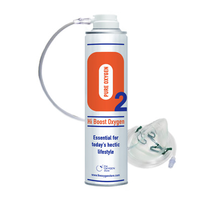 Hi Boost Oxygen In A Can 10 Litres With Mask Boost Levels Recreational Therapy • 16.95£