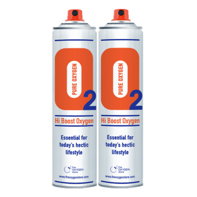 2 X 10L Pure Canned Portable Oxygen In A Can Canister 99.5% Sports Therapy • 19.98£