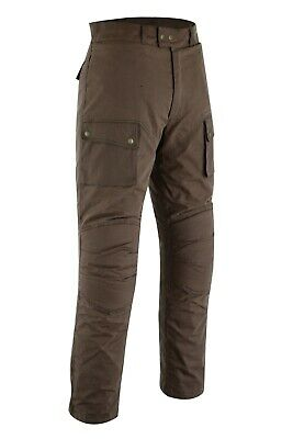 Warrior Classic Brown Motorcycle Protection Waxed Cotton Waterproof Trouser Pant • 69.29£