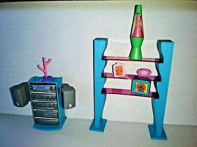 $ CDN11.04 • Buy Vintage Barbie Doll Stereo With Shelf And Accessories Lot.