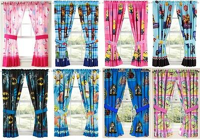 £46.52 • Buy Kids Girls Boys Window Curtains Drapes-multiple Disney Characters/tv Characters