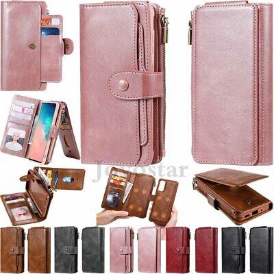$ CDN18.99 • Buy For Samsung S20 S10 S9 S8 Note 9 10 Magnetic Leather Wallet Case Removable Cover