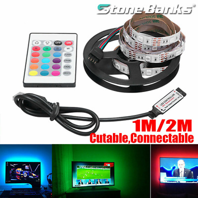 $9.99 • Buy 5050 RGB LED Light Strip Bar TV Room Background Lamp Decor USB Remote Control