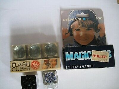 $3.99 • Buy Vintage SYLVANIA, MAGICCUBES & GE FLASHCUBES In Package - 8 Cubes - 32 Flashes