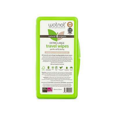AU4.99 • Buy Wotnot Biodegradable Natural Travel Wipes With Case 20 Sheets Australian Made
