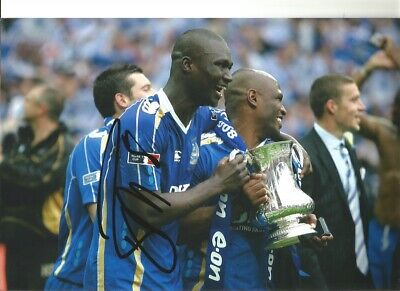Bouba Diop Portsmouth FC Signed 10 X 8 Inch Authentic Football Photo SS1052 • 16.97£