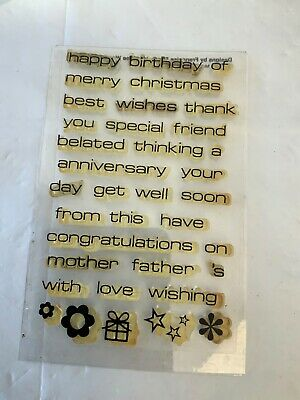 Woodware Clear Words Stamps • 4£
