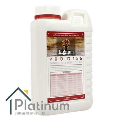 LIGNUM D156 Wood Preserver Concentrate (Makes 25L)   Woodworm, Dry Rot Treatment • 37.50£
