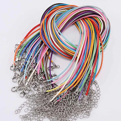 High Quality Leather Necklace Lobster Clasp Rope Cord String For Pendants UK • 3.48£