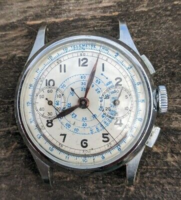 $ CDN260.19 • Buy Great Vintage Gents Chronograph - 17 Jewels, Wonderful Orig. Dial, Nice!!
