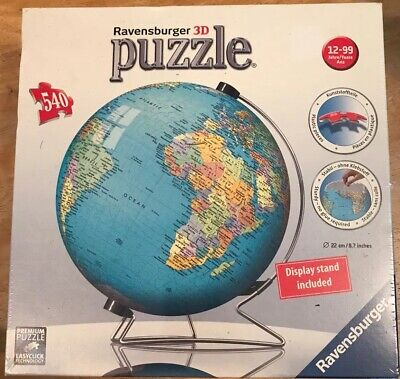 $10.50 • Buy Ravensburger 3D Globe Puzzle - New In Shrink Wrapped Box
