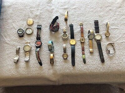 $ CDN39.99 • Buy Lot Of 18 Watches And Watch Faces Some May Need Batteries Or For Parts Not Teste