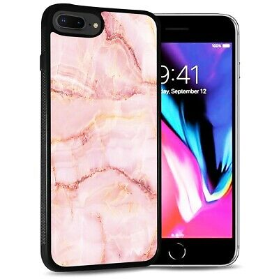 AU9.99 • Buy ( For IPhone 6 Plus / 6S Plus ) Back Case Cover PB12587 Pink Marble