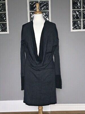$ CDN70 • Buy Lululemon Serenity Sweater Wrap Dress 8 10 Heathered Black Coal Reversible
