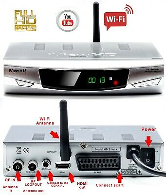 NEW Built In WiFi Freeview HD Receiver Tuner USB Recorder DIGITAL TV Set Top Box • 29.99£