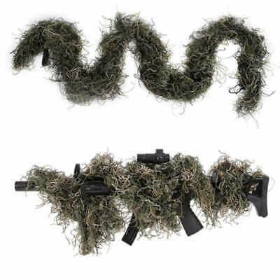 3d Camouflage Rifle Gun Cover Wrap Around Hunting Woodland Shooting Ghillie Suit • 8.90£