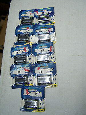 $ CDN65.90 • Buy LOT 10 Rayovac 2CR5 Lithium Photo Camera Battery 6V  RL2CR5-1 2cr5 2022