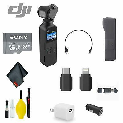 $369 • Buy DJI Osmo Pocket Handheld 3 Axis Gimbal Stabilizer Bundle 4