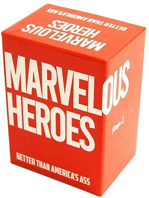 AU34.99 • Buy Marvelous Heroes: Unofficial Cards Against Humanity, Cards For Bogans