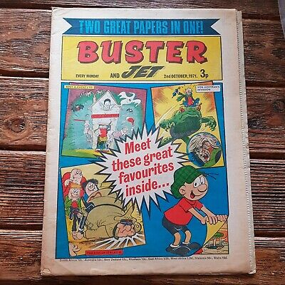 BUSTER AND JET Comic FIRST ISSUE 2ND OCTOBER  1971 • 8£