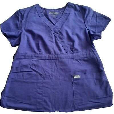 $8.50 • Buy Grey's Anatomy By Barco Scrub Top Shirt Size XLarge Purple Preowned