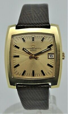 Eterna-Matic 2002 Gold Plated Automatic Gents Watch • 450£