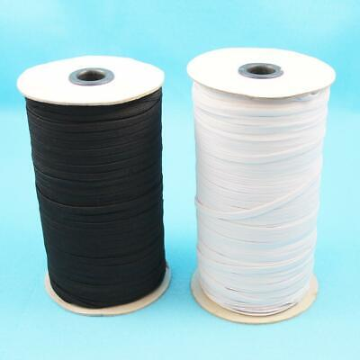 10 Metres Of White Or Black Flat Elastic Uk Sewing Making Face Masks Clothes  • 3.89£