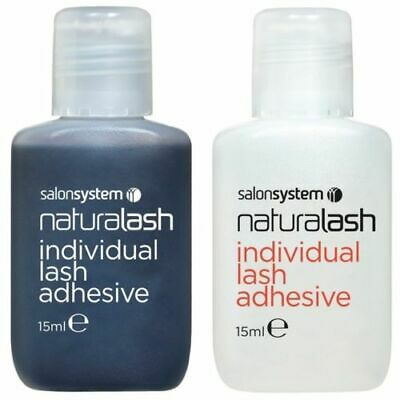 £4.99 • Buy Salon System Semi-Permanent Individual Eyelash Adhesive Clear Or Black Glue 15ml