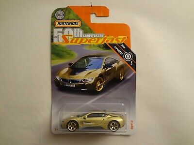 $1.82 • Buy Matchbox 2019 SUPERFAST 50th Anniversary Series BMW I8 TARGET Gold Chase (A)