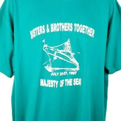 $34.99 • Buy Majesty Of The Seas Cruise T Shirt Vintage 90s Sisters & Brothers Together XL